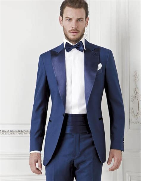 Jas Canali 2015 New Custom Made Royal Blue Designer Suit And