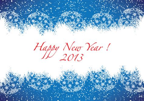 free new year card template happy new year 2013 blue greeting card free vector