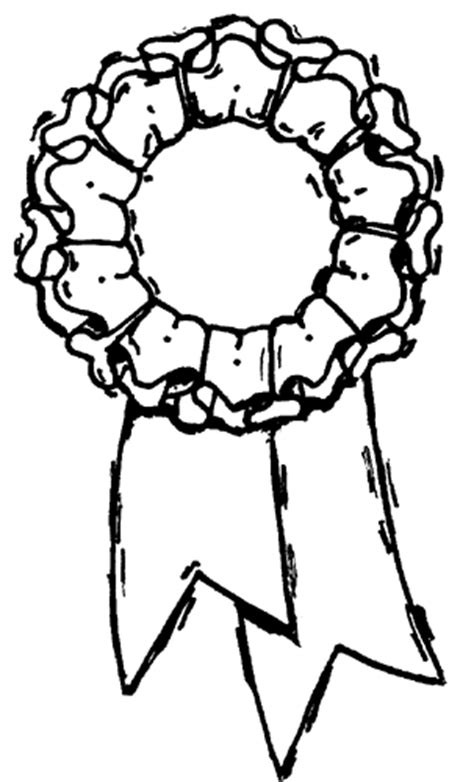 coloring page first place ribbon first place ribbon coloring page coloring pages for free
