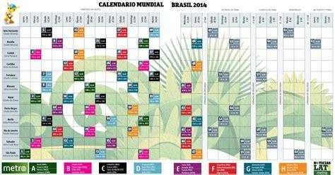 calendario del 2014 calendario del mundial brasil 2014 visual ly