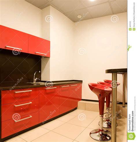 cuisine am駭ag馥 avec bar cuisine avec un bar image stock image du vide