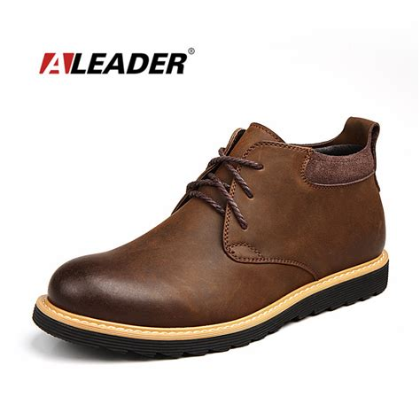 2015 mens boots waterproof boots leather 2015 autumn casual lace up
