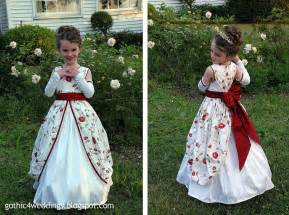 Gothic wedding gowns and victorian flower girl dresses handmade
