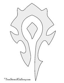 symbol template warcraft horde symbol stencil free stencil gallery