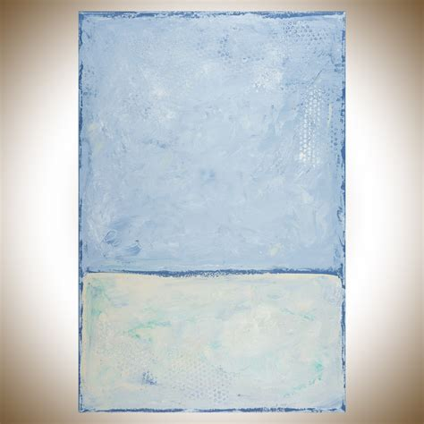 light blue wall decor relax by qiqigallery 36 quot x24 quot original modern abstract wall