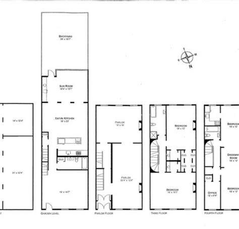 Brownstone House Plans Townhouse Floor Plans Rachael Edwards
