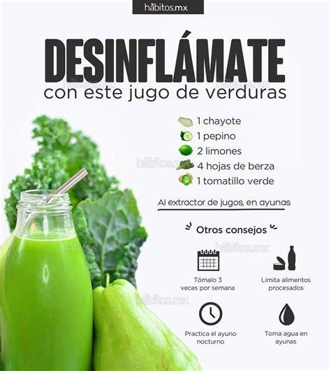 Jugo Verde Detox De Las Famosas by H 225 Bitos Health Coaching Jugo De Verduras Desinfl 193 Mate