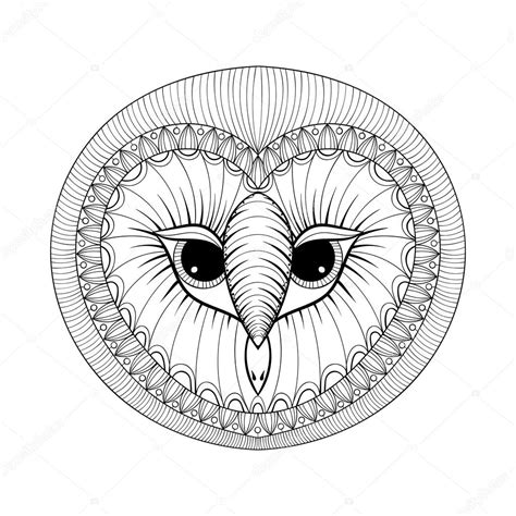 owl head coloring page coloring page with owl head zentangle stylized hand
