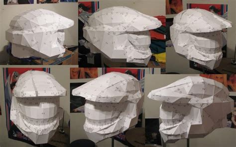 How To Make A Master Chief Helmet Out Of Paper - halo3 master chief helmet by khiorii on deviantart