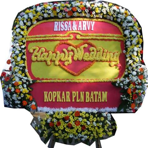 Karangan Bunga Papan Wedding 85733280003 bunga papan ucapan wedding bpb023 bungarossa