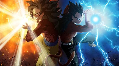 dragon ball epic wallpaper ss5 goku and ss5 vegeta wallpaper digitalart io