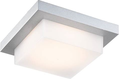 square led outdoor ceiling light ceiling light led outdoor square 5w led ip54 silver