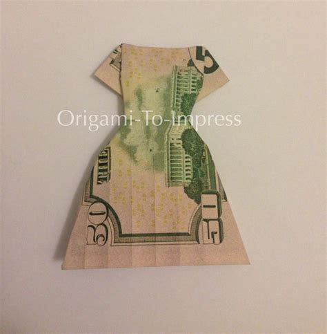 Origami Dollar Dress - 17 best images about folding money on tooth