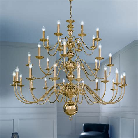 franklite cope delft  light brass chandelier