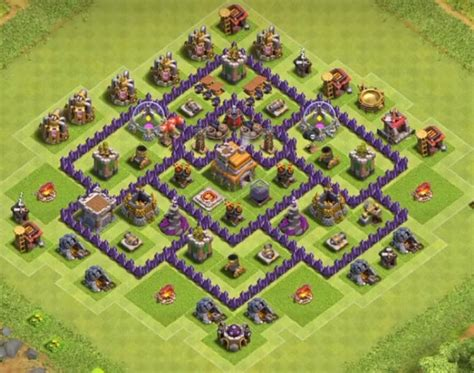 layout design coc th 7 top 8 best th7 trophy base layouts 2018 new 3 air
