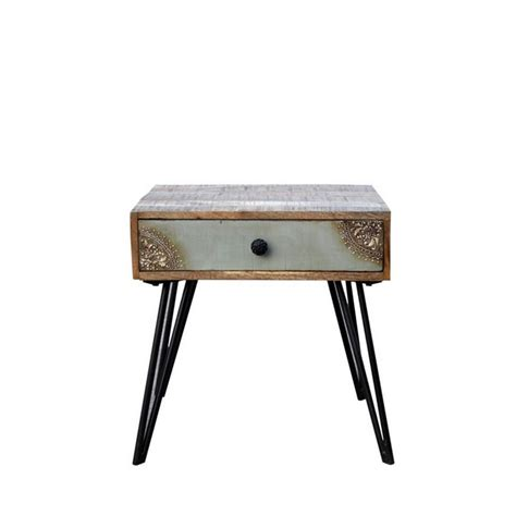 table de nuit vintage table de chevet vintage en bois fusion by drawer