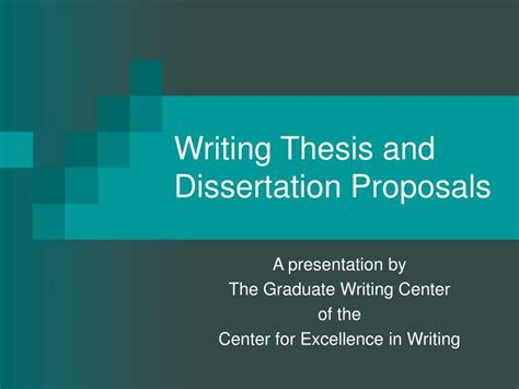 writing thesis and dissertation proposals ppt writing thesis and dissertation proposals powerpoint