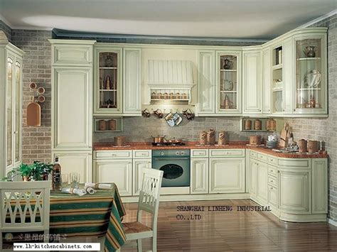 solid wood european style kitchen cabinet lh sw022 on
