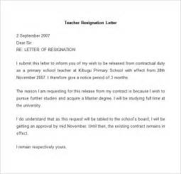 Exles Of Resignation Letters For Teachers by Resignation Letter Template 25 Free Word Pdf Documents Free Premium Templates