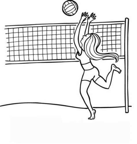 imagenes de voleibol para dibujar faciles voleibol dibujos para colorear
