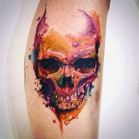 watercolor skull tattoo designs 40 watercolor skull designs for colorful ink
