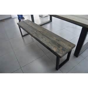 banc style industriel acier et bois m d 233 co industriel
