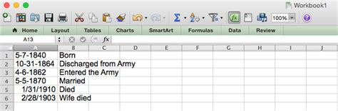 excel put dates in chronological order