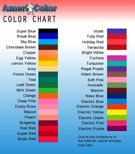 unique colors names great coloring for frosting the list of names is good