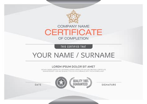 certificate design vector file gray certificate design vector vector cover free download
