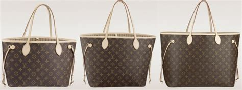 Lv Neverfull Azur Mm Mirror Quality Tote Bag Branded size comparison of the louis vuitton neverfull bags