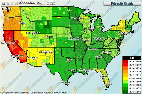 map pricing gas price map map2