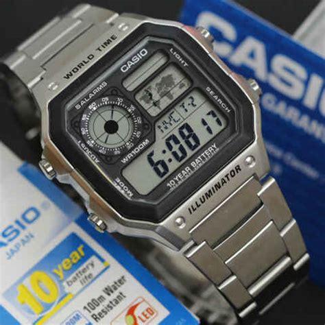 Harga Jam Tangan Merk Casio Original jam tangan casio kotak ae 1200wd rantai original