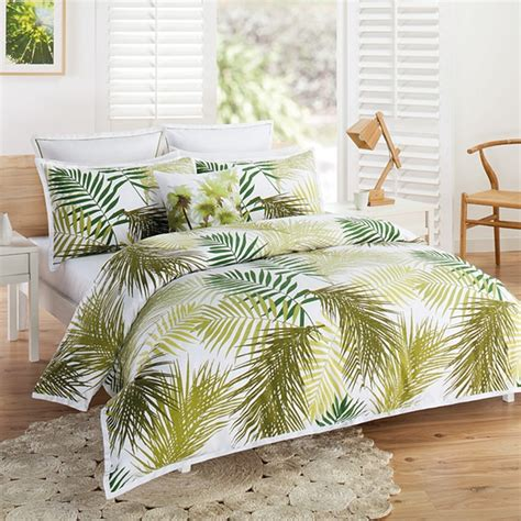 palm tree bedding palm tree quilt cover set target australia