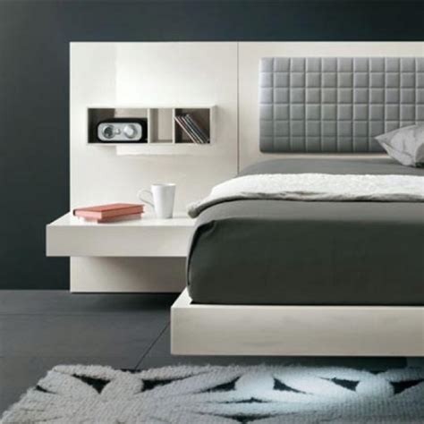 headboard with floating side tables headboard with floating end tables for the home pinterest