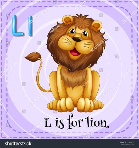 For L by Flashcard Letter L Stock Vector 279284219