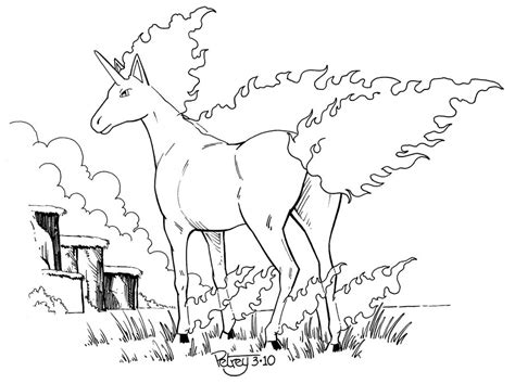 pokemon coloring pages rapidash rapidash pokemon coloring page coloring pages