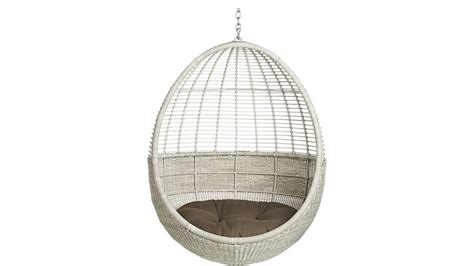 Hanging Chair For Bedroom Pod Hanging Chair With Cushion Cb2