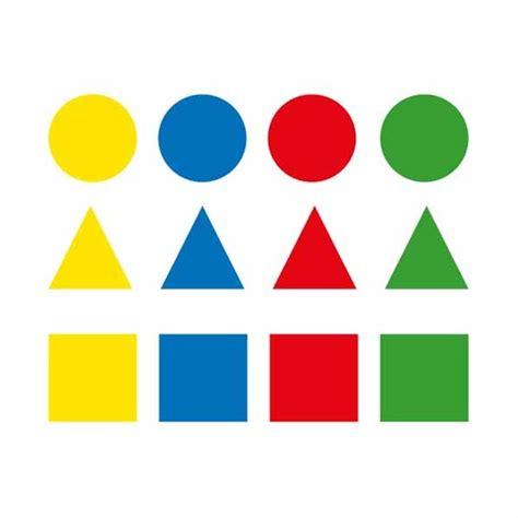 figuras geometricas de colores apli etiquetas 12h de gomets permantes figuras