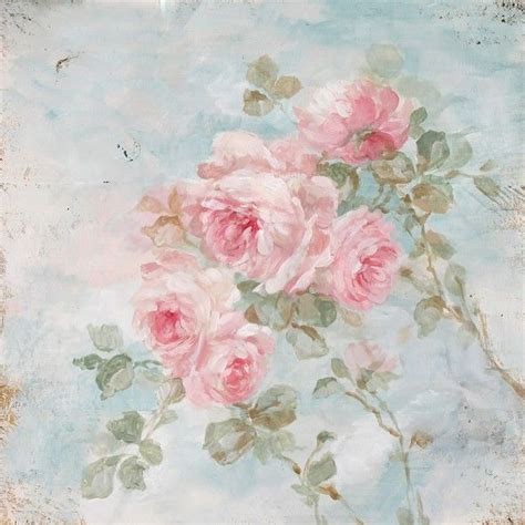 shabby chic paintings shabby chic quot harmony quot roses by debi coules debi