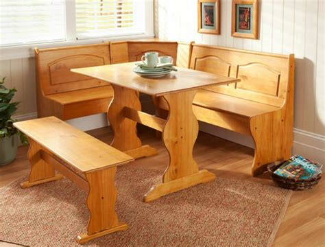 kitchen table and bench set kitchen nook corner dining breakfast set table bench chair booth pine finish ebay