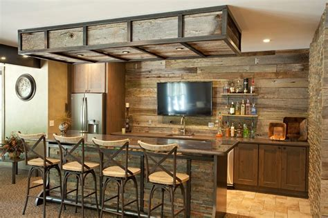 Rustic Bar Stool Plans by Basement Bar Ideas Rustic Home Bar Rustic With Stone Wall