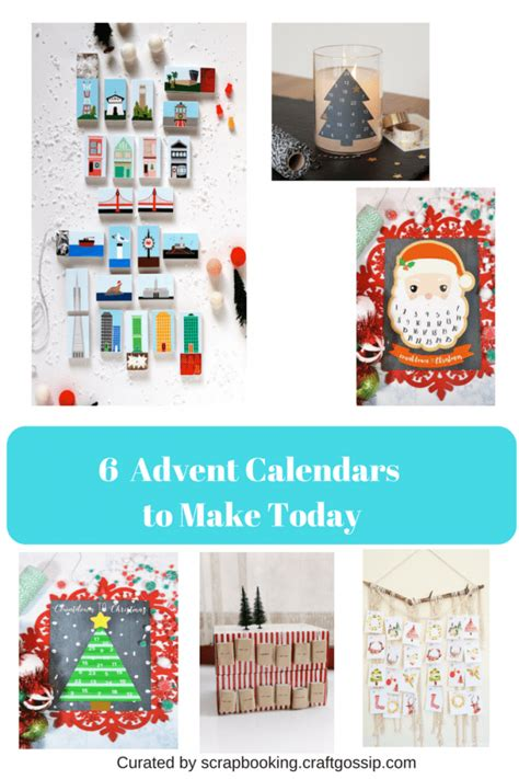 easy advent calendars to make 6 advent calendars you can make today scrap booking