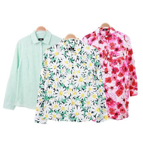 Kemeja Denim Floer Kode744319 new arrivals seen kemeja wanita kemeja dan tunik flower kemeja lengan panjang 3 warna