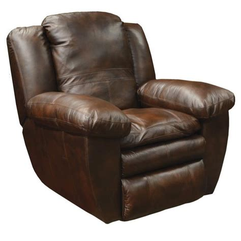 catnapper leather recliner catnapper sonoma leather rocker recliner in sable
