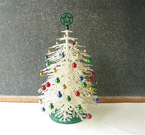 table top christmas tree in pleiglass with falling snow vintage plastic tree plasco tabletop small a well growing up and trees