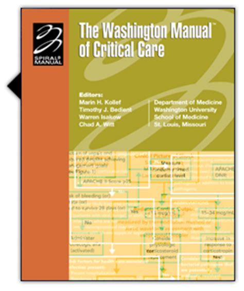 the washington manual of critical care books free ebooks the washington manual of critical care