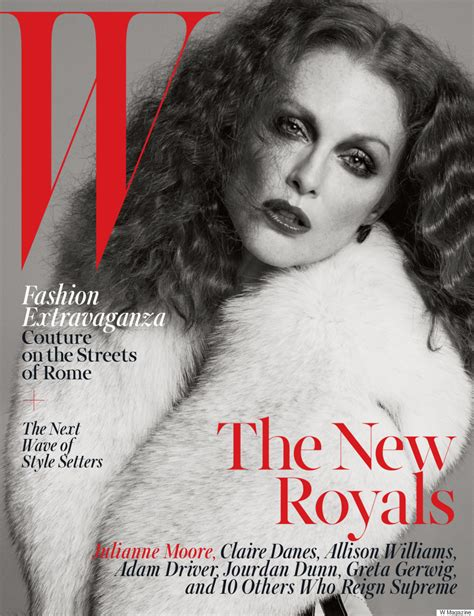 2015 w magazine cover october julianne moore claire danes and more cover w magazine s