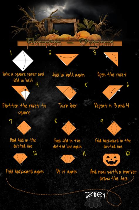 Pumpkin Origami - pumpkin origami tutorial by scrapsaurus on deviantart