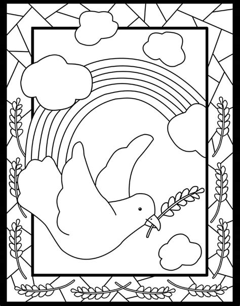 christian rainbow coloring pages welcome to dover publications