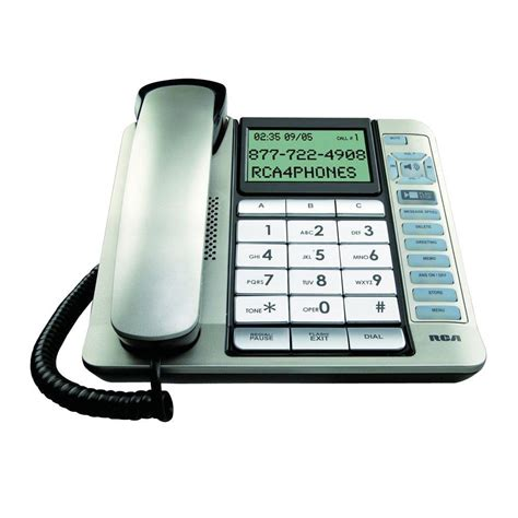 Cid Phone Number Lookup Rca Corded Desk Phone With Cid Itad And Tilt Screen Rca